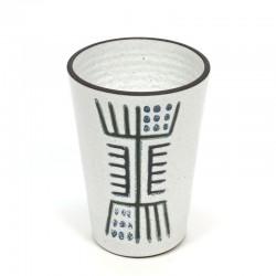 Vintage vaas met abstracte afbeelding