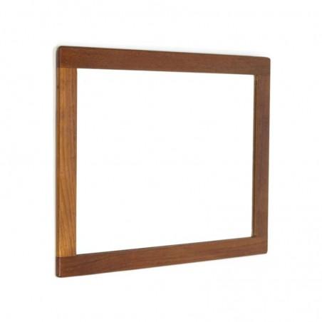 Vintage teakhouten spiegel rechthoek