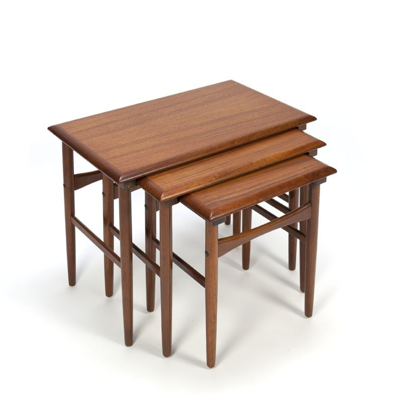 Vintage Nesting Tables Danish Design Teak Retro Studio