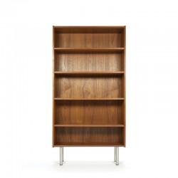 Danish teak bookcase on aluminium legs
