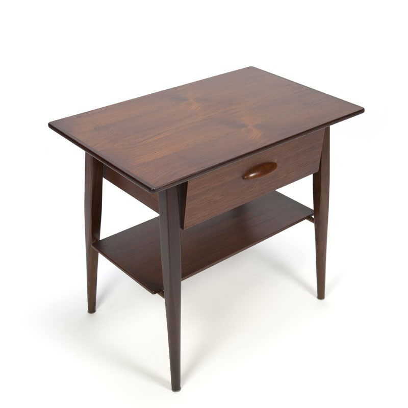 Danish small table / side table with drawer