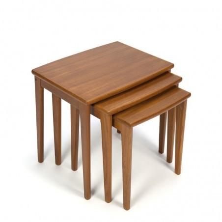 Vintage Danish set of 3 nesting tables in teak