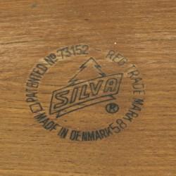 Vintage teakhouten dienblad van Silva