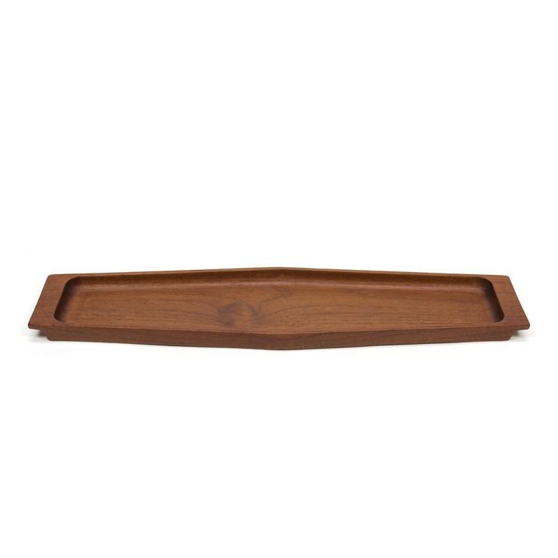 Vintage tray/ elongated bowl in teak