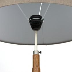 Vintage palissander houten vloerlamp