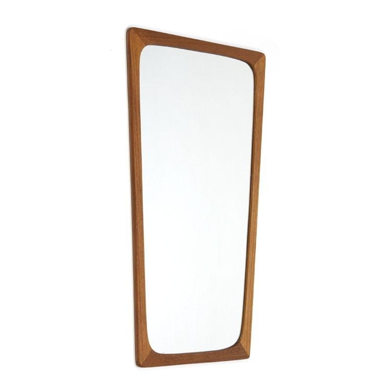 Deense vintage spiegel teak
