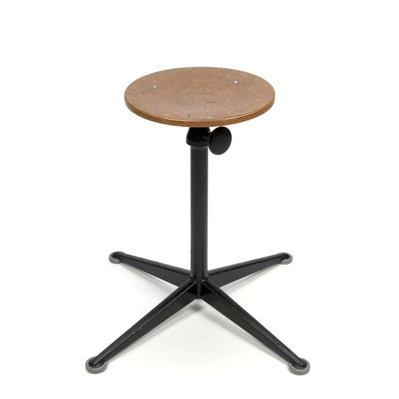 Industrial Friso Kramer stool high model black