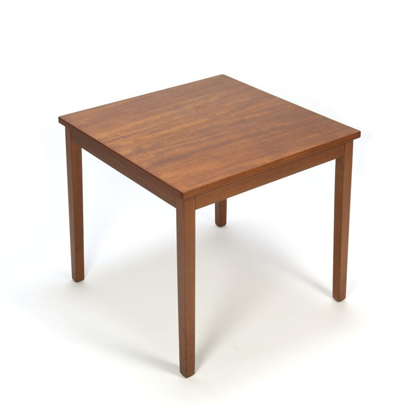 Vintage small coffee table in teak