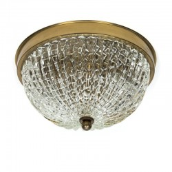Plafondlamp in Orrefors stijl