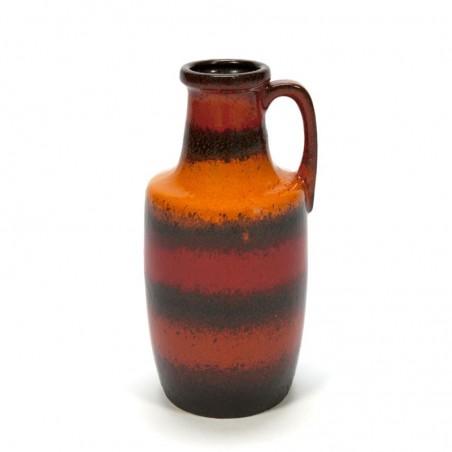 Vintage West Germany vaas oranje/ rood