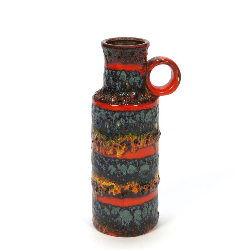 Vintage vase with lava structure