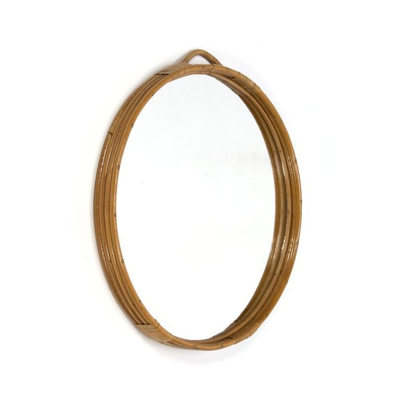 Vintage spiegel van Bamboe