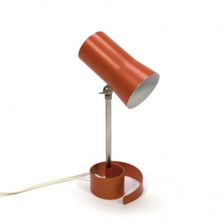 Vintage table lamp with orange base