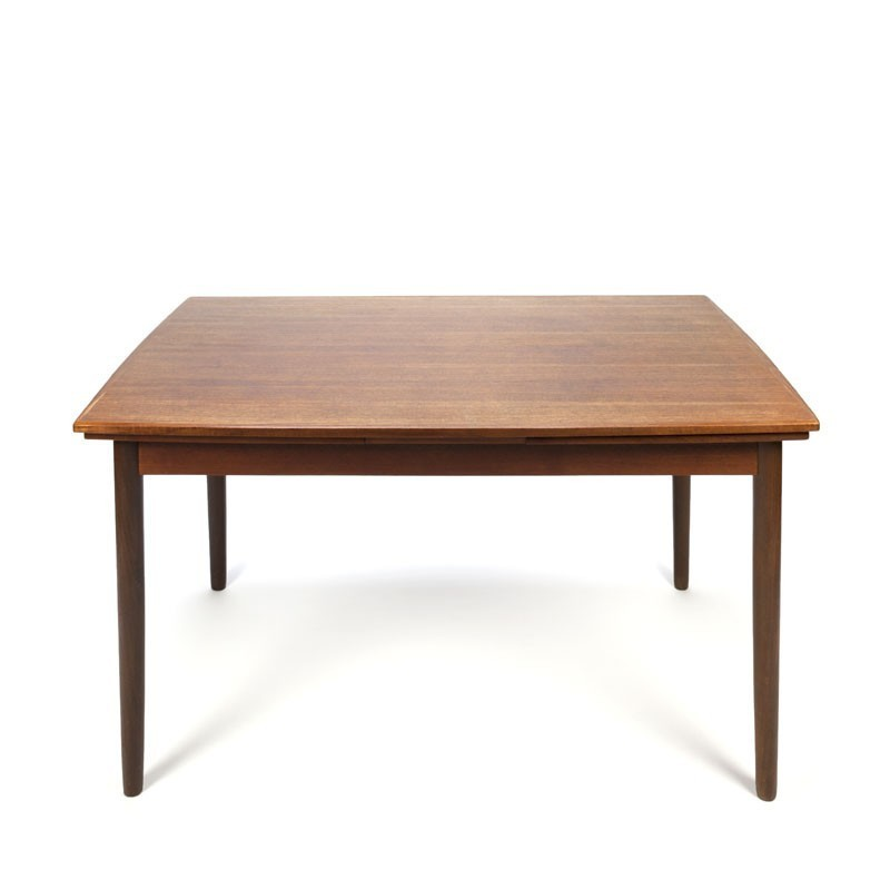 Vintage small Danish pull-out dining table