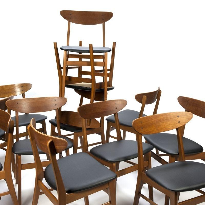 Partij vintage Farstrup stoelen model 210
