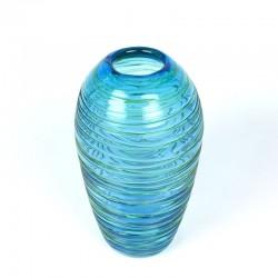 Vintage blue glass vase