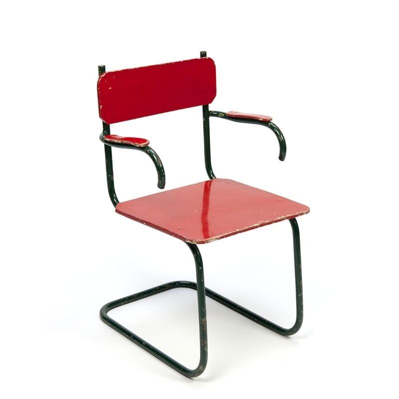 Vintage Kinderstoeltje met buisframe jaren 30/40