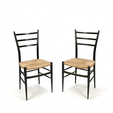 Vintage set of 2 Spinetto Chiavari chairs