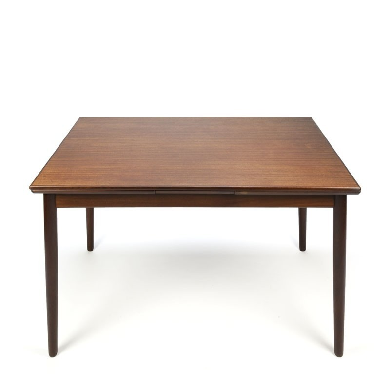 Danish teak vintage pull-out dining table
