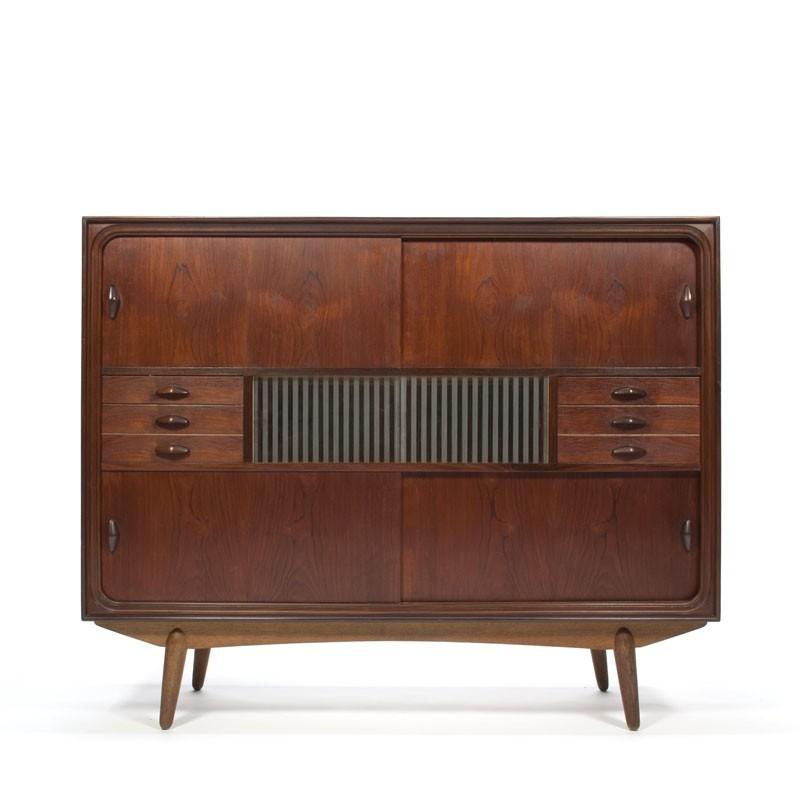 Deens vintage dressoir donker teakhout