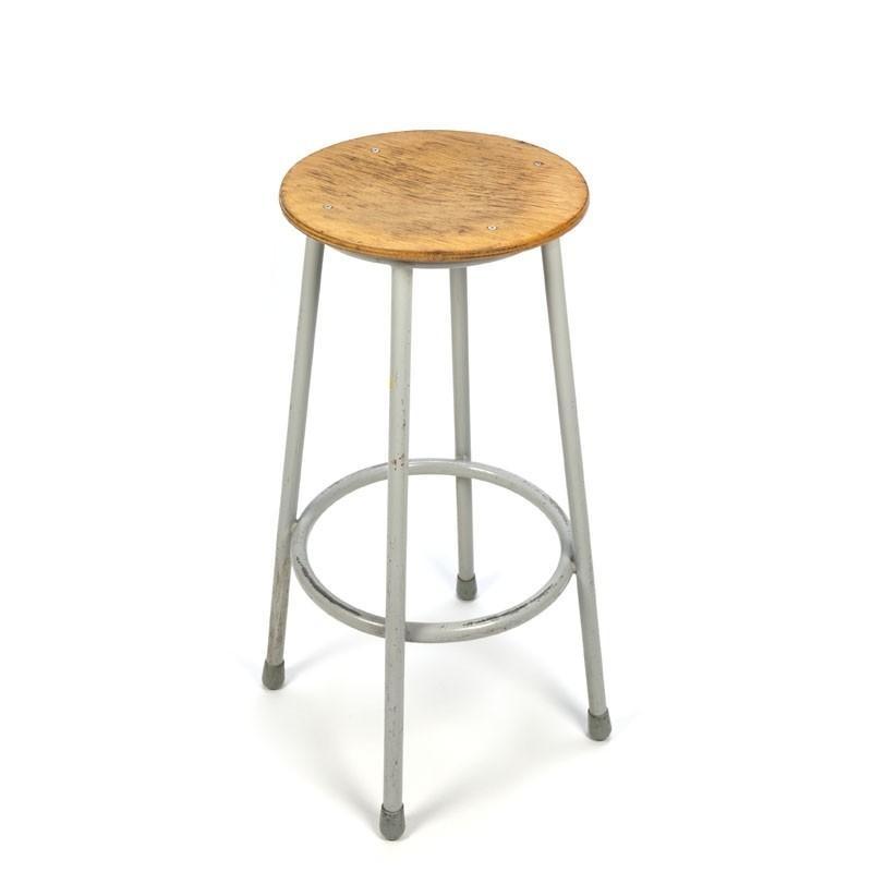 Vintage industrial bar stool