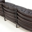 Arne Norell vintage 3-seat sofa in brown leather