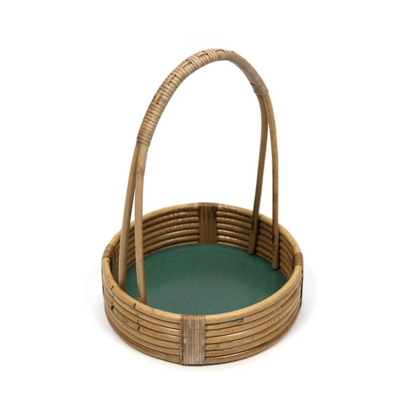 Vintage mandje van bamboe
