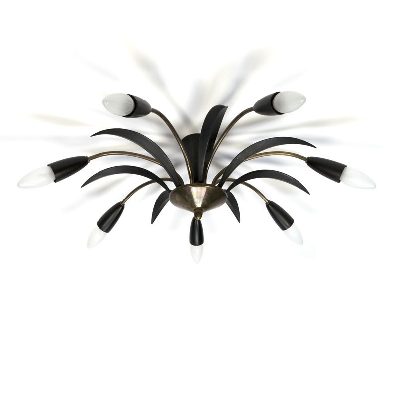 Vintage ceiling lamp 1950's Italian style
