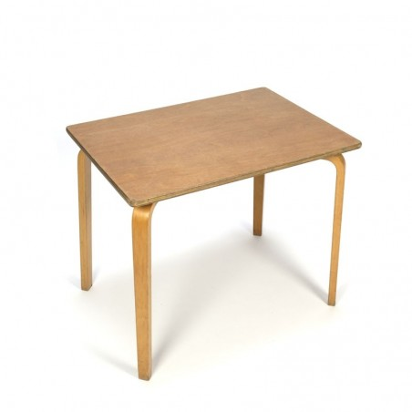 Vintage school-/ side table with plywood legs