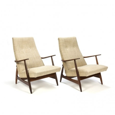 Vintage set of 2 easy chairs from the fifties
