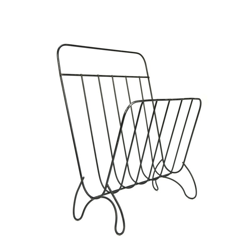 Vintage magazine rack from steel wire