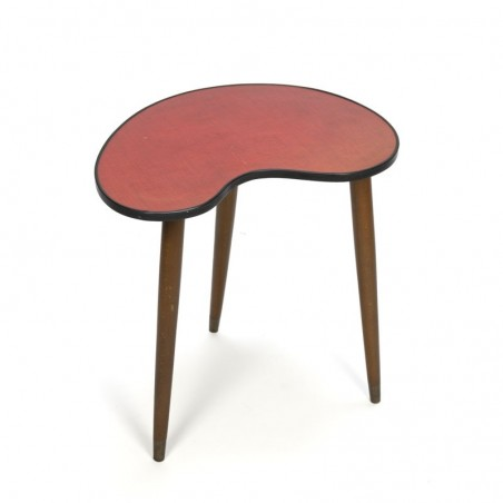 Vintage 50s kidney-shaped side table