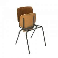 Vintage set van 4 opklapbare Kho Liang Ie stoelen