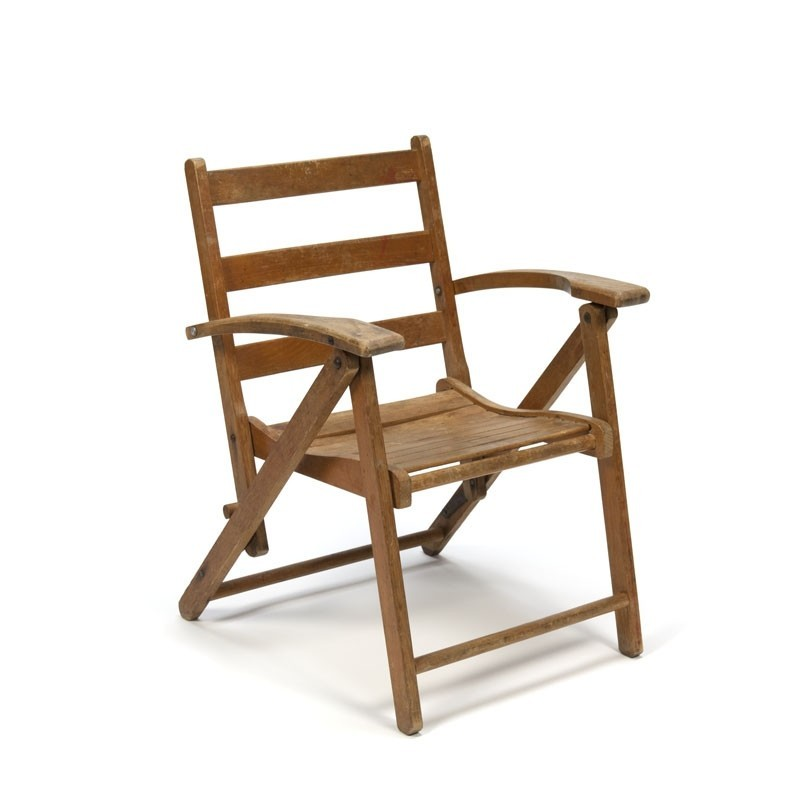 Vintage folding chair for children