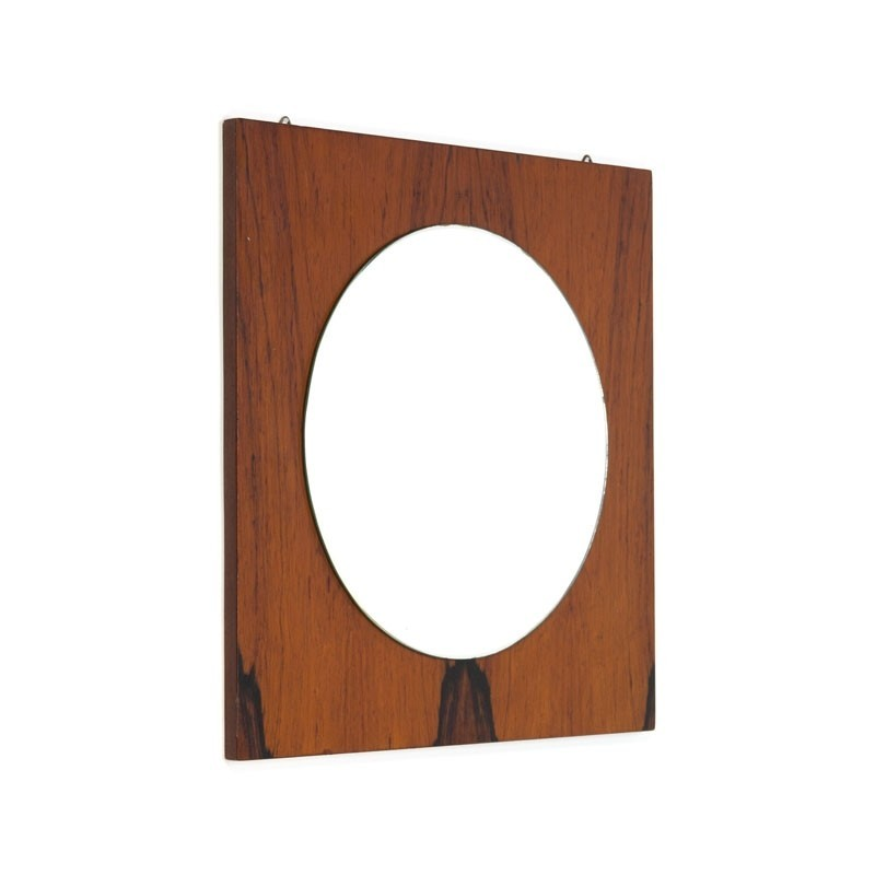 Vintage spiegel van palissanderhout
