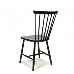 Vintage set van 4 Zweedse spijlen stoelen