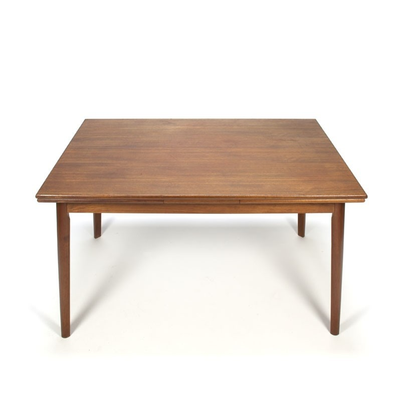 Danish vintage pull-out dining table