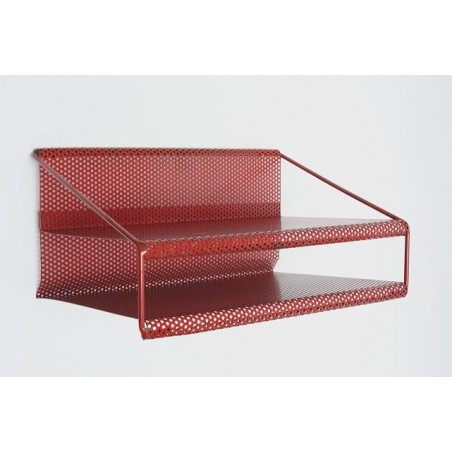 Wall rack of perforated metal