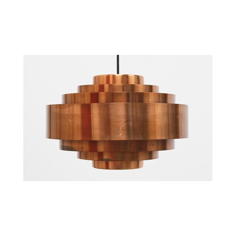 Scandinavian brass hanging lamp