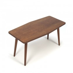 Vintage small model coffee table in teak