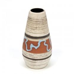 Vintage ceramic vase with blue detail
