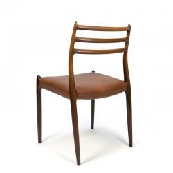 Vintage Rosewood set of 4 N.O.Møller model 78 chairs