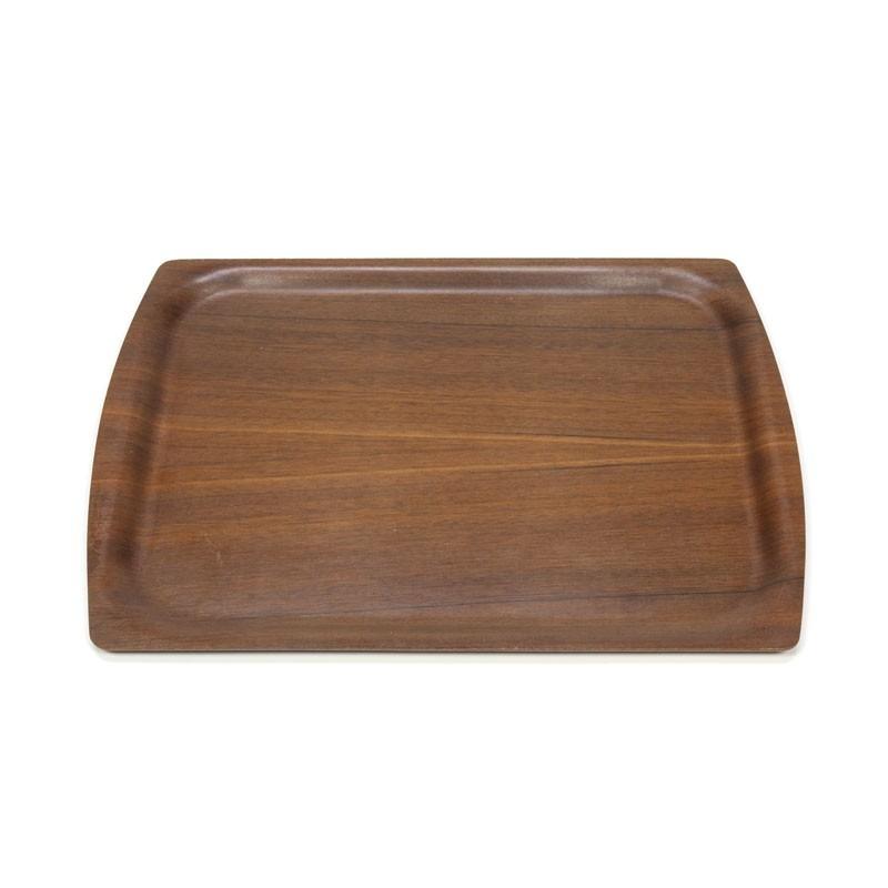 Vintage dark teak tray