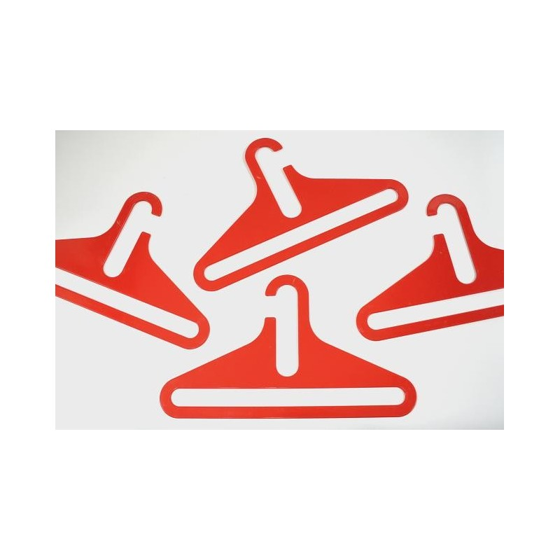 Plastic clothes hook red