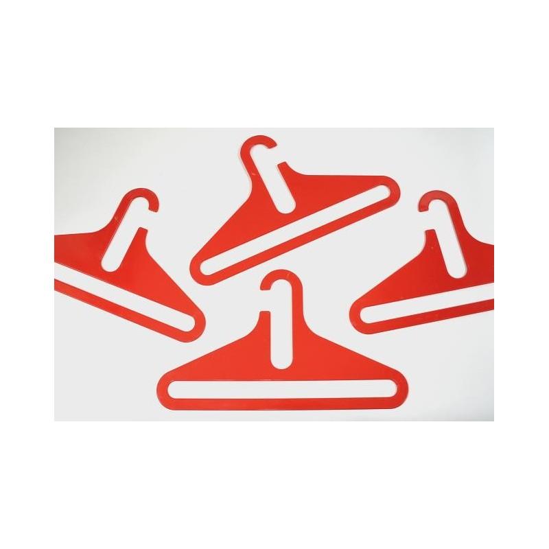 Plastic kledinghanger rood