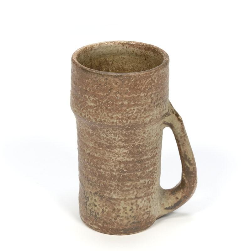 Vintage aardewerken vaas van Mobach
