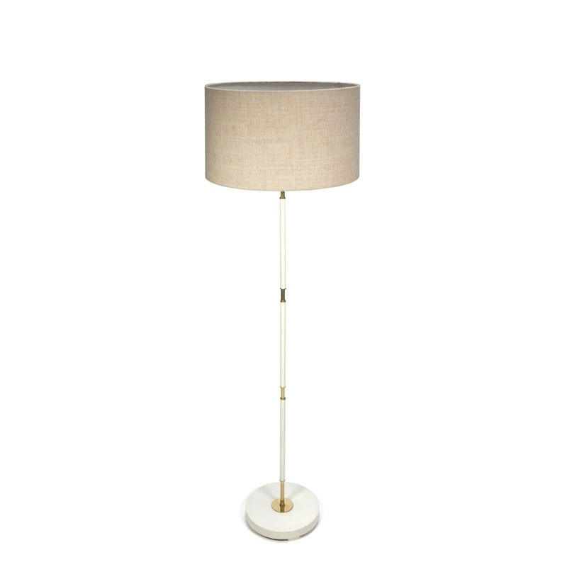 Standing vintage floor lamp with brass details