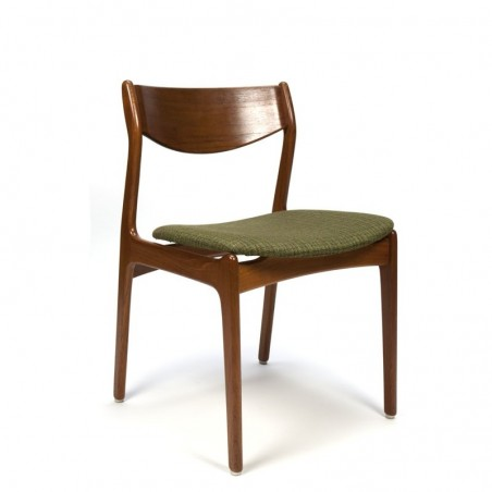 Vintage Danish teak design chair green