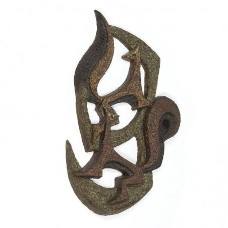 Vintage wandobject van aardewerk 'Eekhoorns'