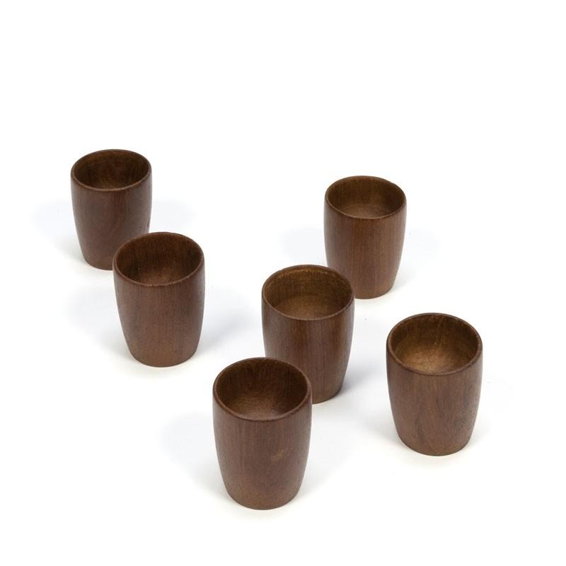Vintage set of six Danish egg cups